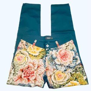 Betabrand Floral Rose Print Career Yoga Pants 27